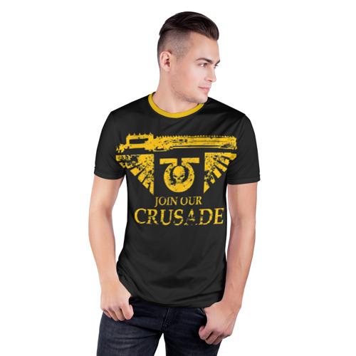 Мужская футболка 3D спортивная с принтом JOIN OUR CRUSADE | КРЕСТОВЫЙ ПОХОД, фото на моделе #1