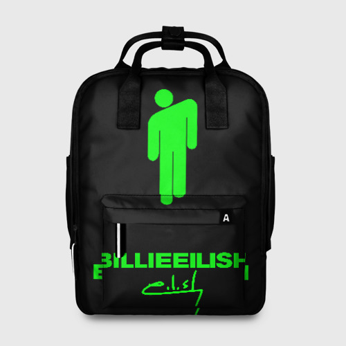 Женский рюкзак 3D с принтом РЮКЗАК BILLIE EILISH, вид спереди #2