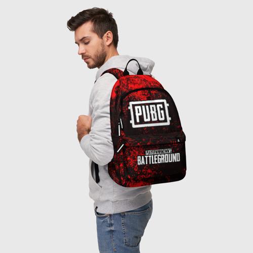 Рюкзак 3D с принтом РЮКЗАК PUBG, фото на моделе #1