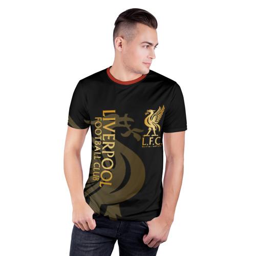 Мужская футболка 3D спортивная с принтом LIVERPOOL, фото на моделе #1