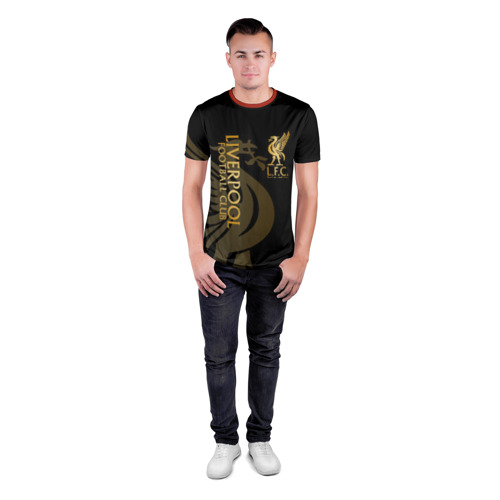 Мужская футболка 3D спортивная с принтом LIVERPOOL, вид сбоку #3