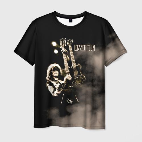 Мужская 3D футболка с принтом Led Zeppelin, вид спереди #2