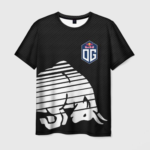 Мужская 3D футболка с принтом OG TEAM БЫК / BULL, вид спереди #2