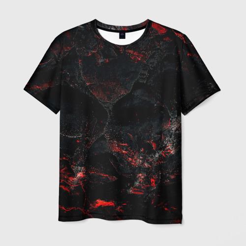 Мужская 3D футболка Red and Black