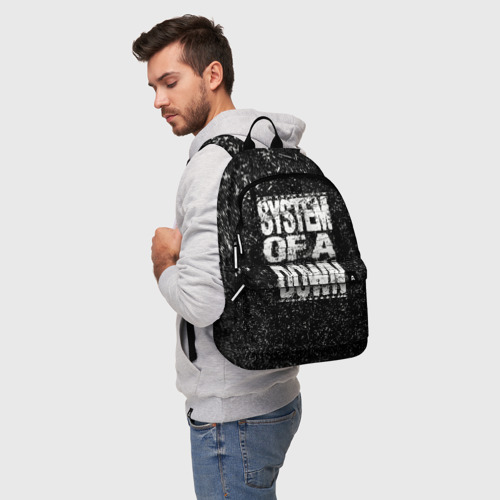 Рюкзак 3D с принтом System of a Down, фото на моделе #1