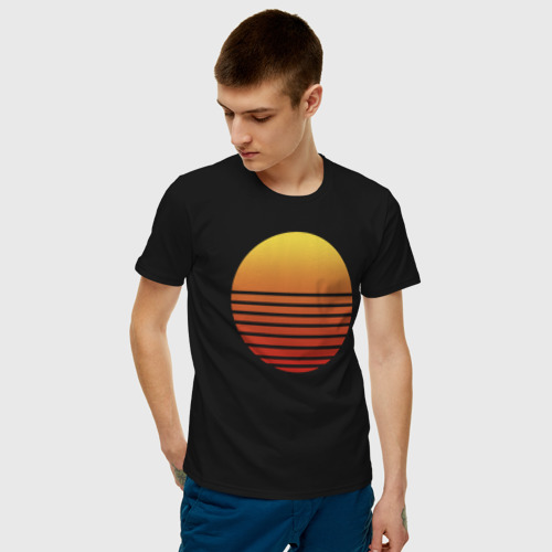 Мужская футболка с принтом Hotline Maiami, фото на моделе #1