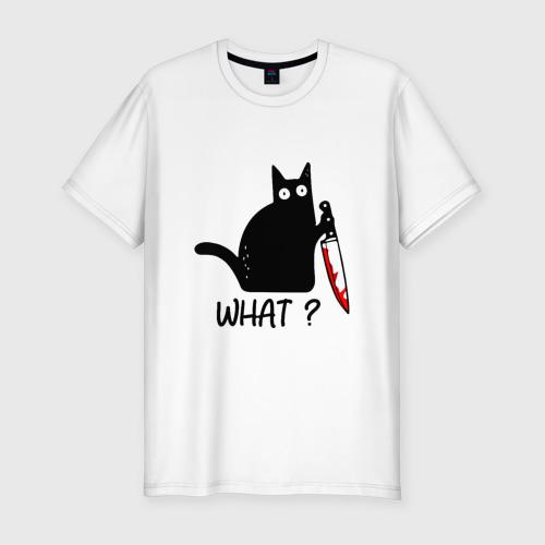 Мужская футболка премиум What cat