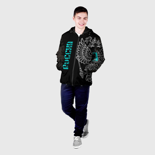 Мужская куртка 3D с принтом Россия, фото на моделе #1