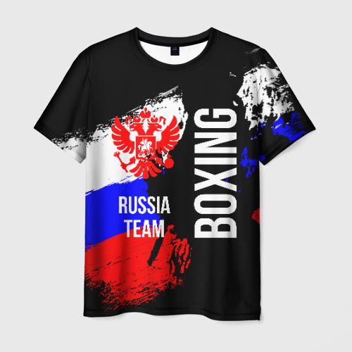 Мужская 3D футболка Boxing Russia Team