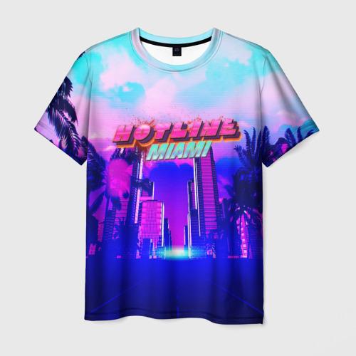 Мужская 3D футболка HOTLINE MIAMI