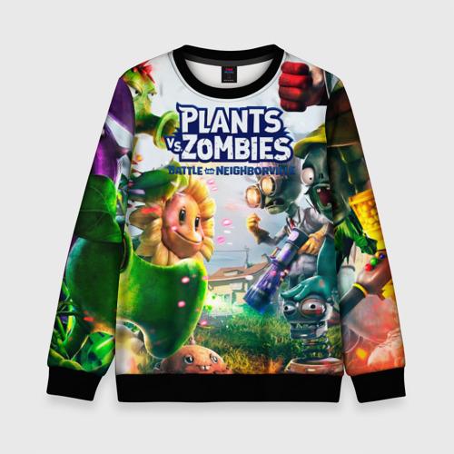 Детский 3D свитшот с принтом Plants vs Zombies, вид спереди #2