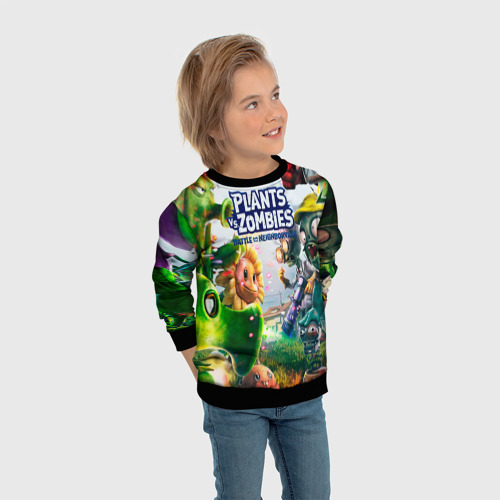Детский 3D свитшот с принтом Plants vs Zombies, вид сбоку #3