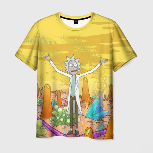 Мужская 3D футболка с принтом Рик Санчес, вид спереди #2