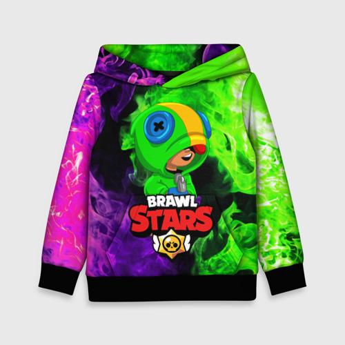 Детская 3D толстовка BRAWL STARS LEON | ЛЕОН ОГОНЬ
