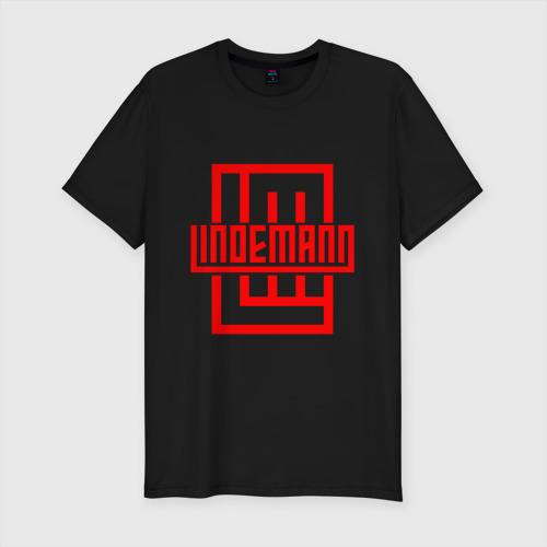 Мужская футболка премиум с принтом LINDEMANN, вид спереди #2