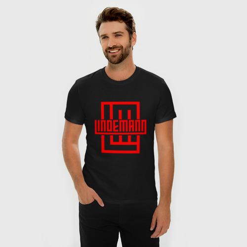 Мужская футболка премиум с принтом LINDEMANN, фото на моделе #1