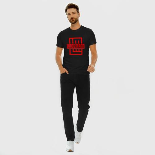 Мужская футболка премиум с принтом LINDEMANN, вид сбоку #3