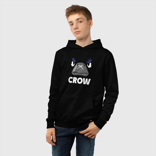 Детская хлопковая толстовка с принтом Brawl Stars CROW, фото #5