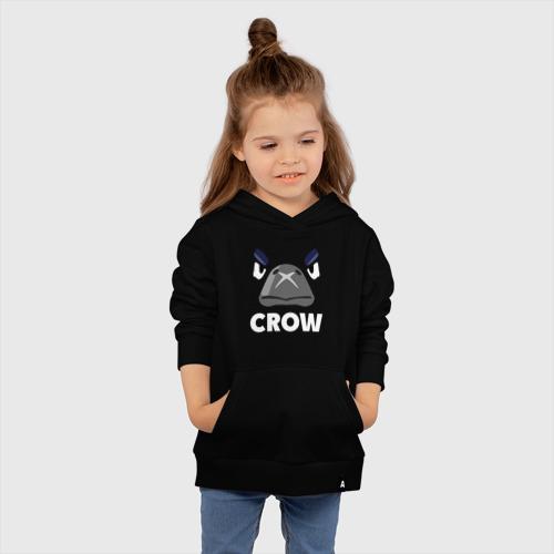 Детская хлопковая толстовка с принтом Brawl Stars CROW, вид сбоку #3