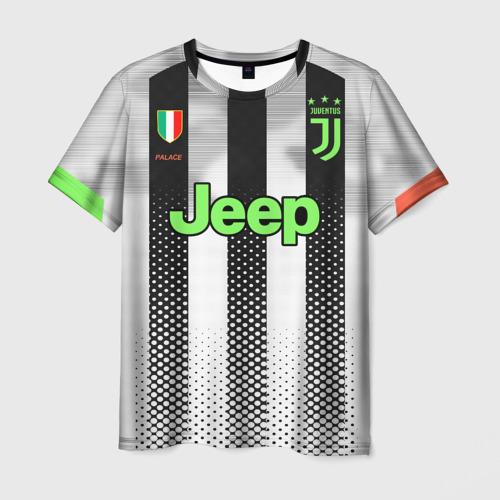 Мужская 3D футболка с принтом Ronaldo 19-20 Palace edition, вид спереди #2