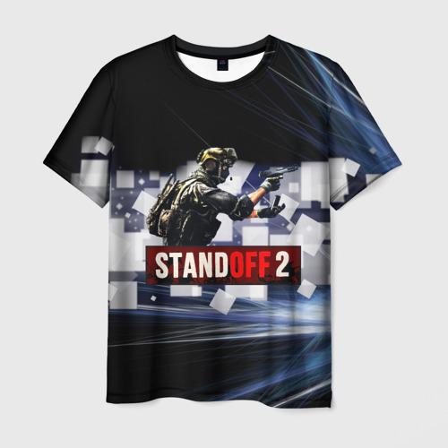 Мужская 3D футболка с принтом Standoff2, вид спереди #2