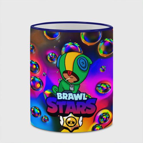 Кружка с полной запечаткой с принтом Brawl Stars LEON bubble, вид сбоку #3