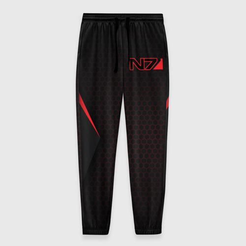 Мужские брюки 3D с принтом Mass Effect N7, вид спереди #2
