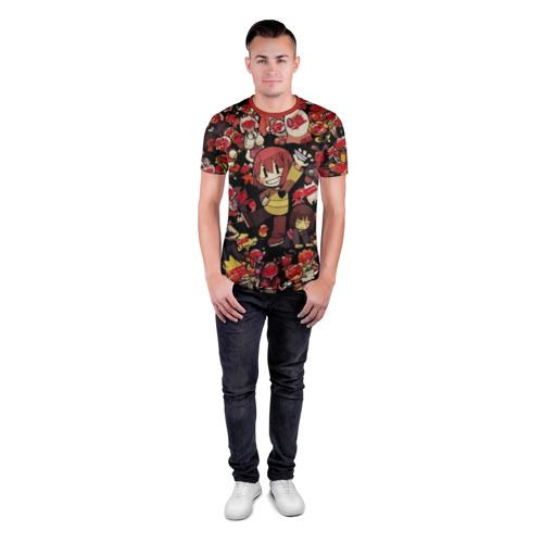 Мужская футболка 3D спортивная с принтом UNDERTALE CHARA, вид сбоку #3