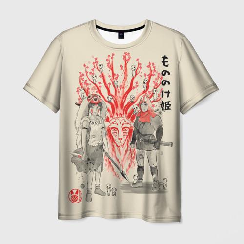 Мужская 3D футболка Принцесса Мононоке