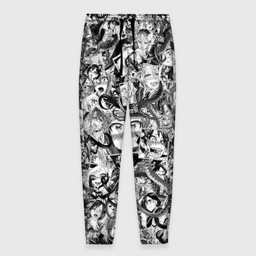 Мужские брюки 3D с принтом Ахегао с щупальцами, вид спереди #2