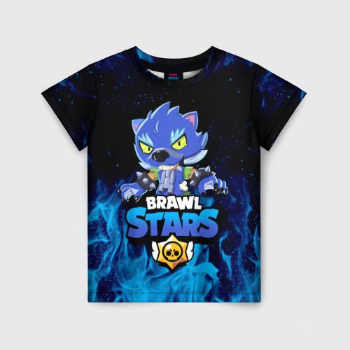 Детская 3D футболка BRAWL STARS LEON / ЛЕОН ОБОРОТЕНЬ