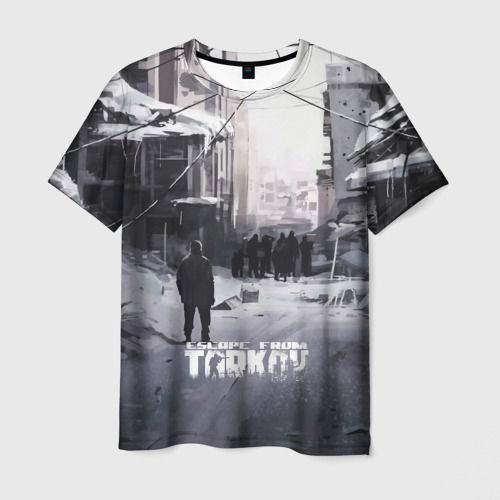 Мужская 3D футболка ПОБЕГ ИЗ ТАРКОВА