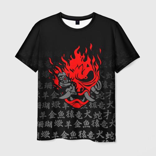 Мужская 3D футболка CYBERPUNK 2077 KEANU REEVES