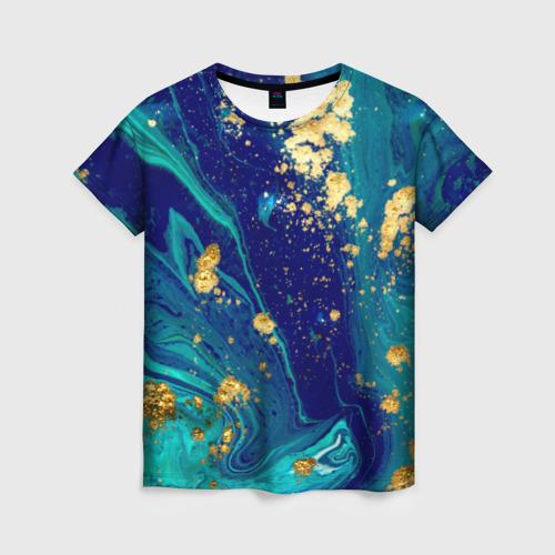 Женская 3D футболка Краски