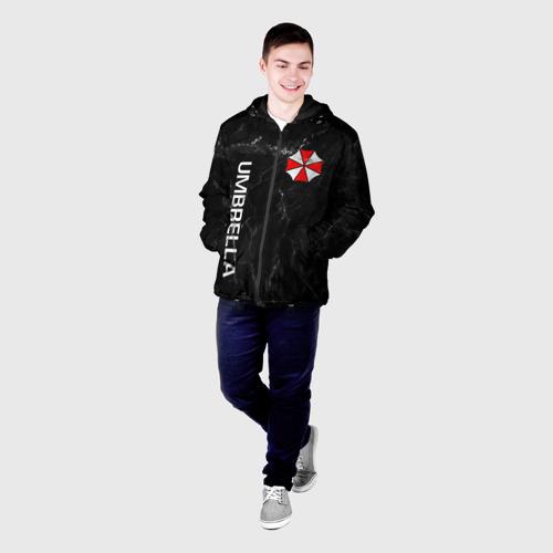 Мужская куртка 3D с принтом UMBRELLA CORP, фото на моделе #1