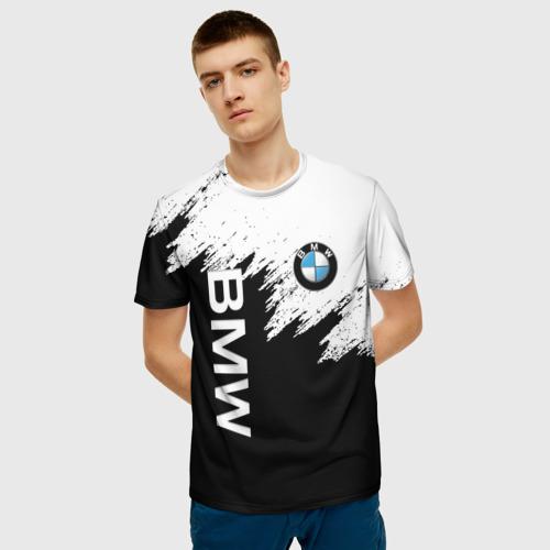 Мужская 3D футболка с принтом BMW | БМВ (Z), фото на моделе #1