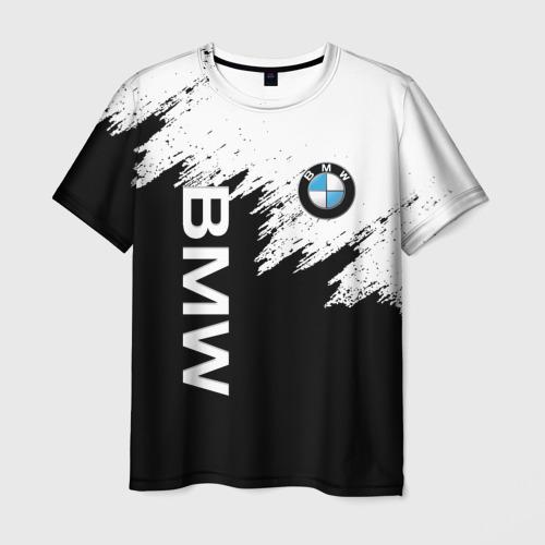 Мужская 3D футболка с принтом BMW | БМВ (Z), вид спереди #2