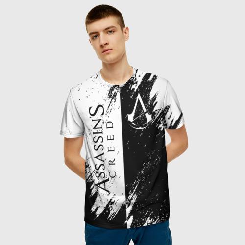 Мужская 3D футболка с принтом ASSASSIN'S CREED, фото на моделе #1