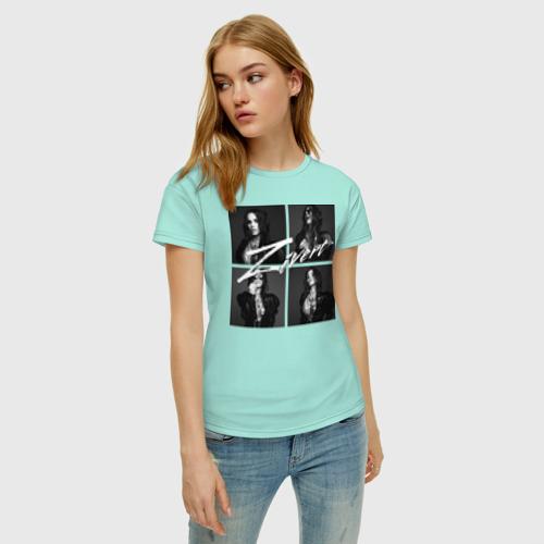Женская футболка с принтом Zivert, фото на моделе #1