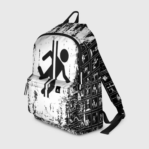 Рюкзак 3D с принтом PORTAL, вид спереди #2