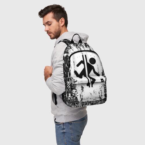 Рюкзак 3D с принтом PORTAL, фото на моделе #1