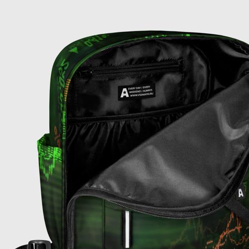 Женский рюкзак 3D с принтом Трейдинг 03, фото #5