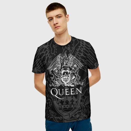 Мужская 3D футболка с принтом QUEEN   КВИН (Z), фото на моделе #1