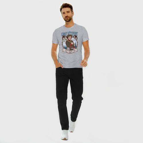 Мужская футболка премиум с принтом Санкт-Петербург, вид сбоку #3