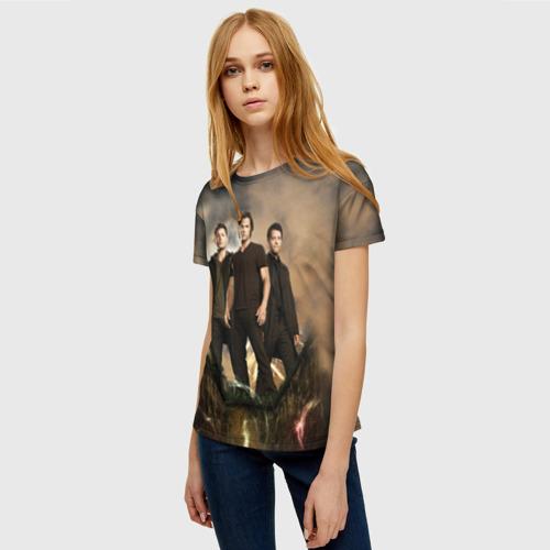 Женская 3D футболка с принтом Supernatural, фото на моделе #1