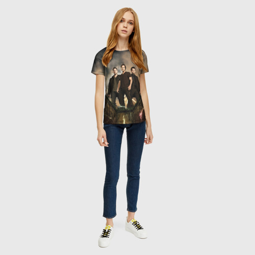 Женская 3D футболка с принтом Supernatural, вид сбоку #3