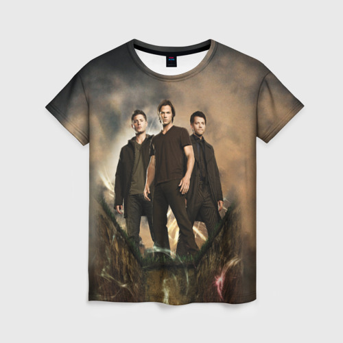 Женская 3D футболка Supernatural