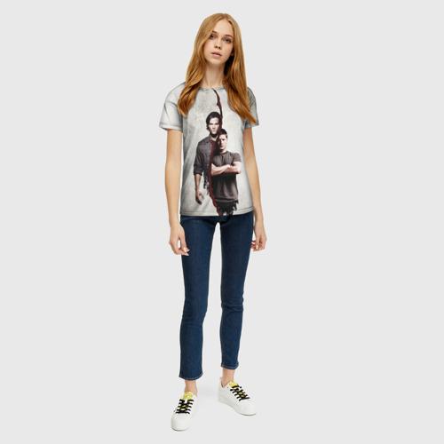 Женская 3D футболка с принтом Winchester Brothers, вид сбоку #3