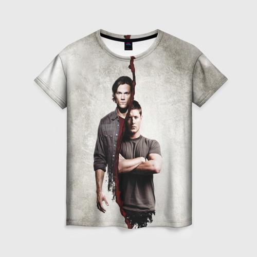 Женская 3D футболка Winchester Brothers