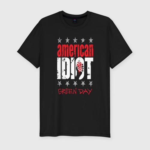 Мужская футболка премиум с принтом Green Day, вид спереди #2